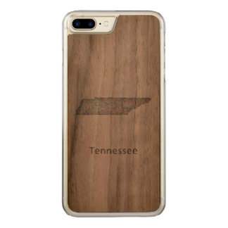 Tennessee map carved iPhone 7 plus case