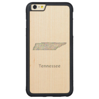 Tennessee map carved maple iPhone 6 plus bumper case