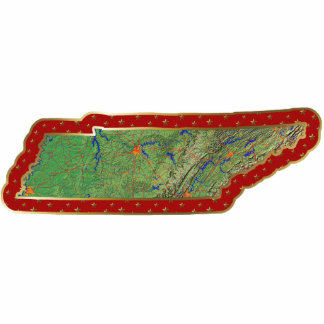 Tennessee Map Christmas Ornament Cut Out