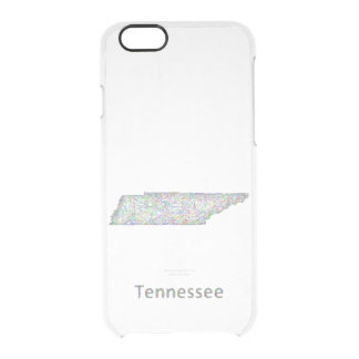Tennessee map clear iPhone 6/6S case