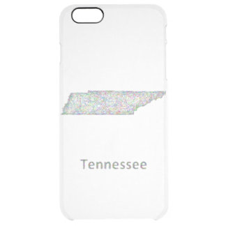 Tennessee map clear iPhone 6 plus case