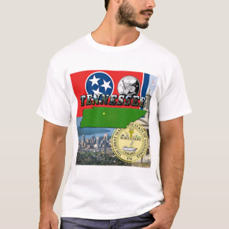Tennessee Map, Flag, State Seal and Pictures T-Shirt