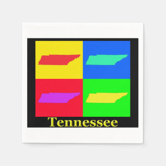 Tennessee Map Paper Napkin