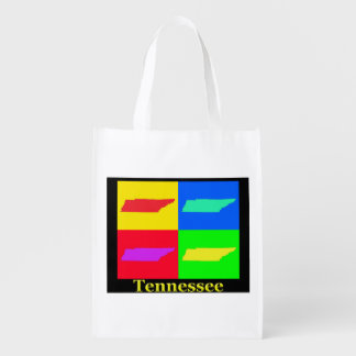 Tennessee Map Reusable Grocery Bag