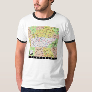 Tennessee Map T shirt