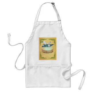 Tennessee Map With Lovely Birds Adult Apron