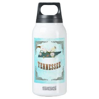 Tennessee Map With Lovely Birds Insulated Water Bottle