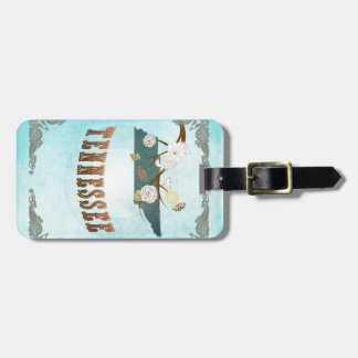 Tennessee Map With Lovely Birds Luggage Tag