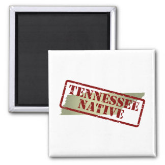 Tennessee Native Stamped on Map Magnet