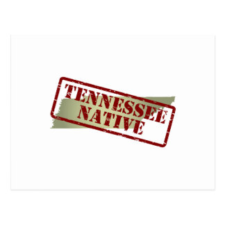 Tennessee Native Stamped on Map Postcard