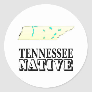 Tennessee Native Round Stickers