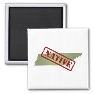 Tennessee Native with Tennessee Map 2 Inch Square Magnet