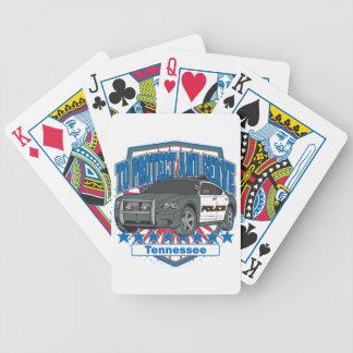 Tennessee para proteger y para servir el coche pat cartas de juego
