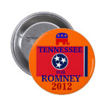 Tennessee para Romney 2012 Pins