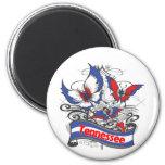 Tennessee Patriotism Butterfly Fridge Magnet