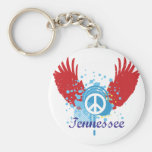 Tennessee Peace Sign Basic Round Button Keychain