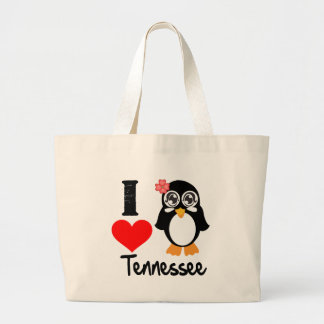 Tennessee Penguin - I Love Tennessee Tote Bag