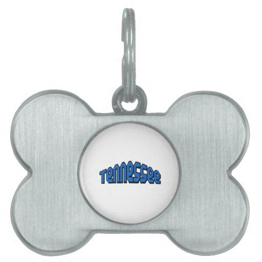 Tennessee Placas De Nombre De Mascota