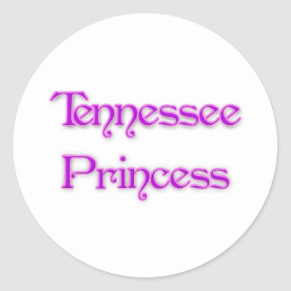 Tennessee Princess Classic Round Sticker