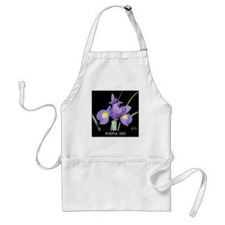 Tennessee Purple Iris Adult Apron