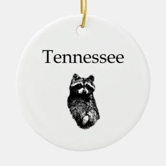 Tennessee Raccoon Ceramic Ornament