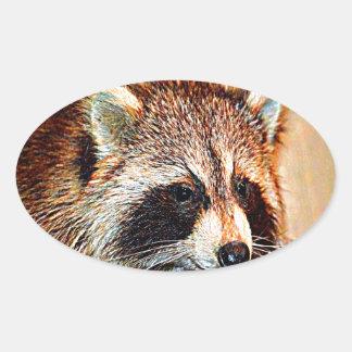Tennessee Raccoon Oval Sticker