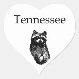 Tennessee Raccoon Heart Sticker