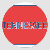 Tennessee Red Classic Round Sticker