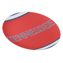 Tennessee Red Melamine Plate