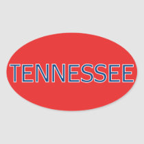 Tennessee Red Oval Stickers
