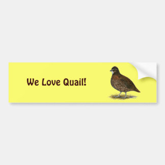 Tennessee Red Quail Bumper Sticker