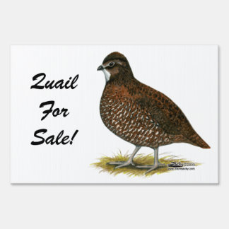 Tennessee Red Quail Sign