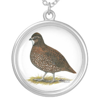 Tennessee Red Quail Silver Plated Necklace