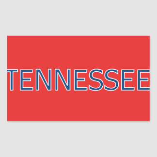 Tennessee Red Rectangular Stickers