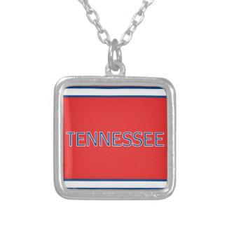 Tennessee Red Square Necklace
