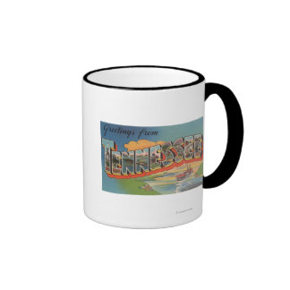 Tennessee (Riverboat Scene) Ringer Mug