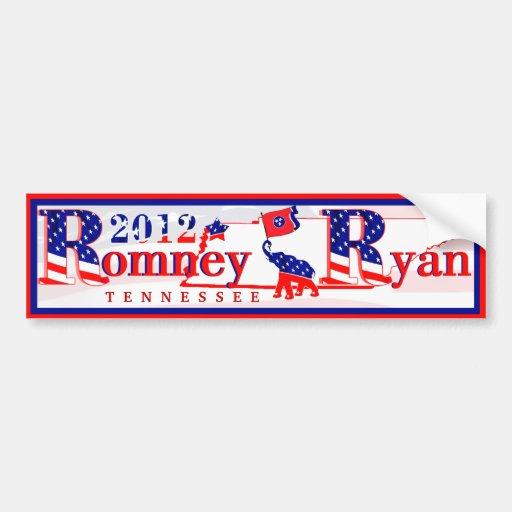 Tennessee Romney y pegatina para el parachoques 20 Pegatina Para Auto