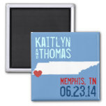 Tennessee Save the Date - Customizable City Fridge Magnets