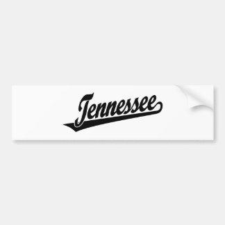 Tennessee script logo in black bumper sticker