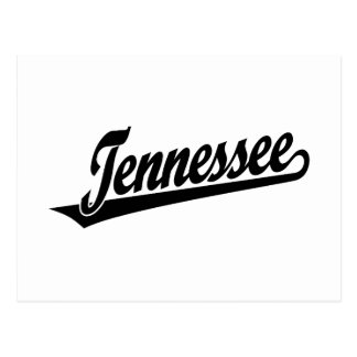 Tennessee script logo in black postcard