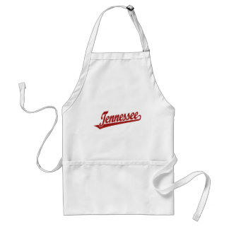 Tennessee script logo in red adult apron