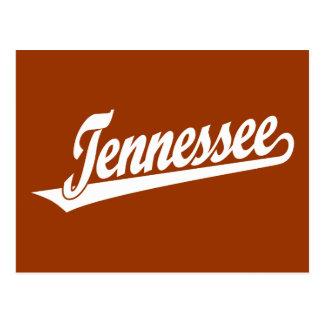 Tennessee script logo in white postcard