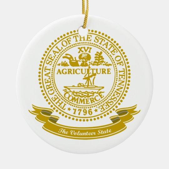 Tennessee Seal Ceramic Ornament
