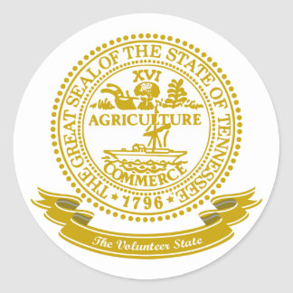 Tennessee Seal Classic Round Sticker