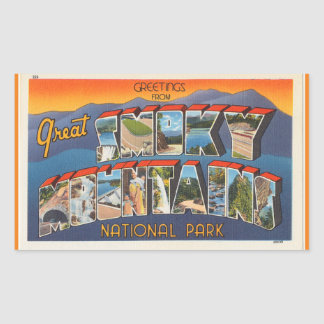 Tennessee, Sheet of 4 Smoky Mtn. Nat. Pk. stickers