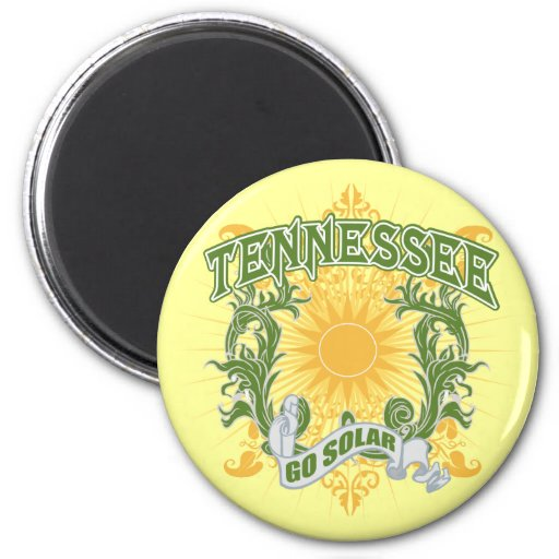 Tennessee solar imán redondo 5 cm