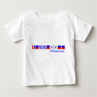 Tennessee spelled in nautical flag alphabet baby T-Shirt