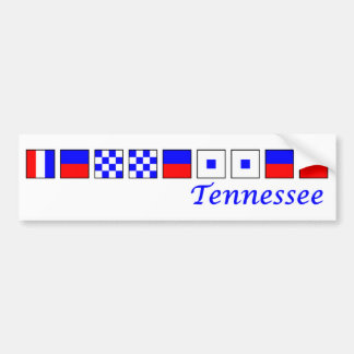 Tennessee spelled in nautical flag alphabet bumper sticker