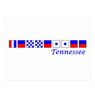 Tennessee spelled in nautical flag alphabet postcard