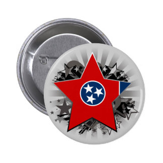Tennessee Star Pinback Buttons